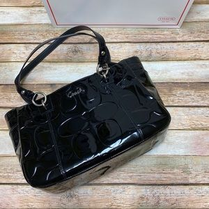 Coach Embossed Patent Leather Gallery Tote